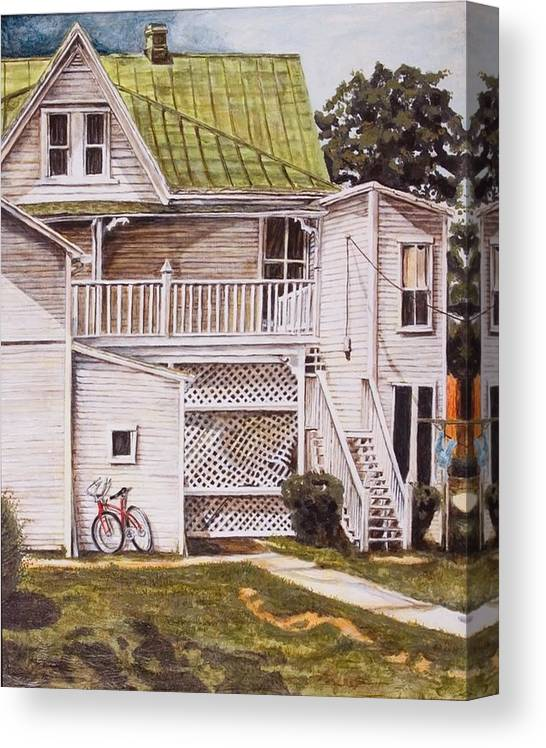 Appalachia Canvas Print featuring the painting Red Hope by Thomas Akers