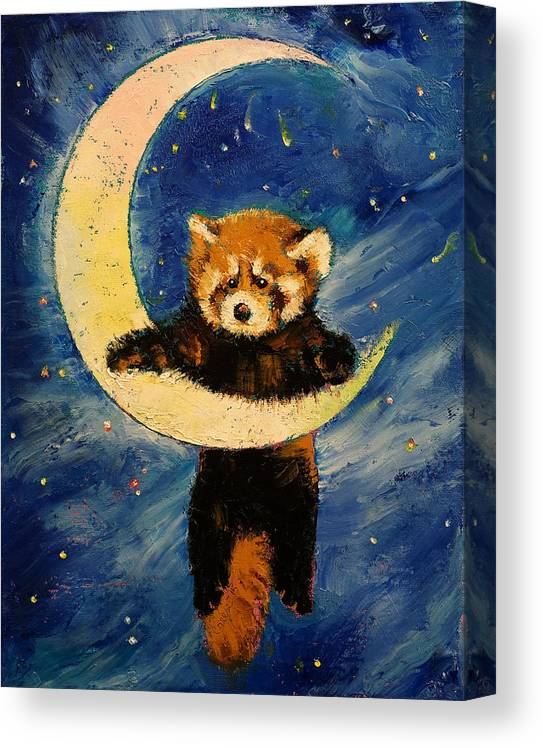 Red Panda Stars Canvas Print Canvas Art By Michael Creese