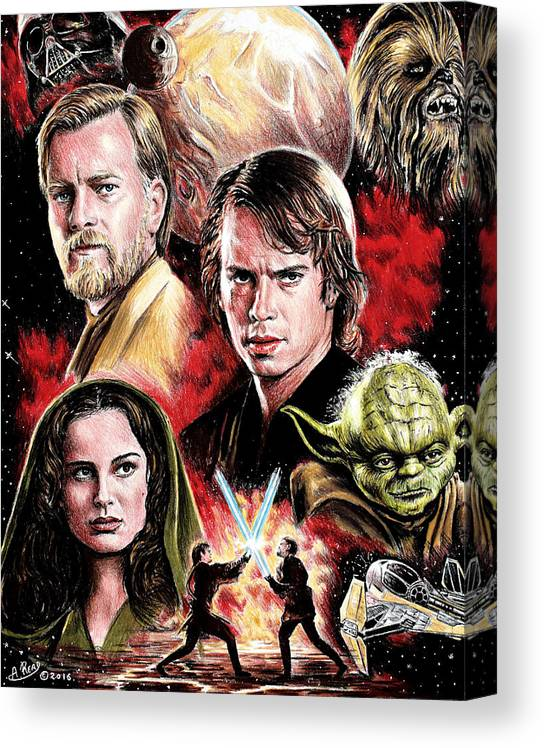 Revenge Of The Sith Edit Canvas Print Canvas Art By Andrew Read