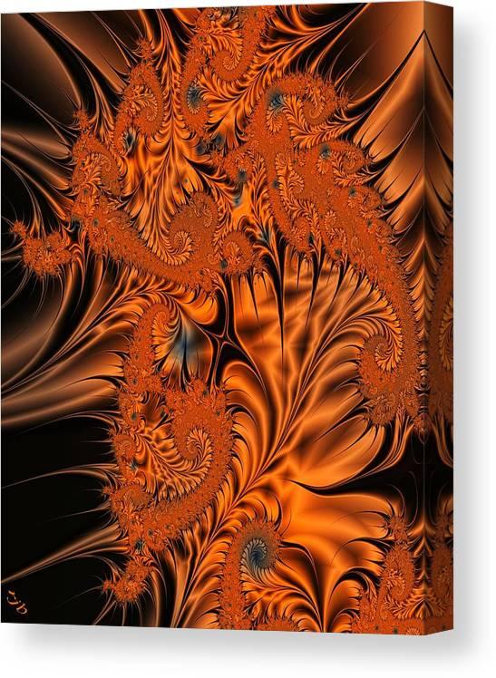 Silk Canvas Print featuring the digital art Silk in Orange by Ron Bissett