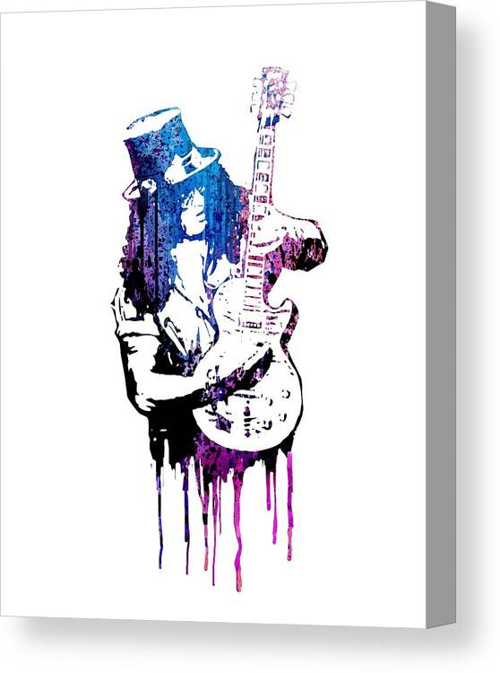 Slash Canvas Print featuring the painting Slash by Art Popop