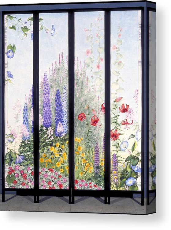 Garden Canvas Print featuring the painting Summerscreen by Nancy Ethiel