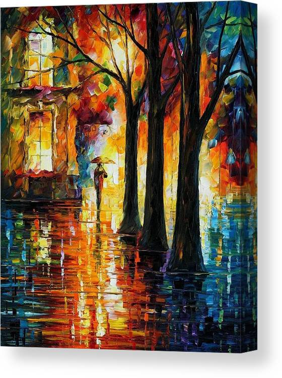 Afremov Canvas Print featuring the painting Suppressed Memories by Leonid Afremov