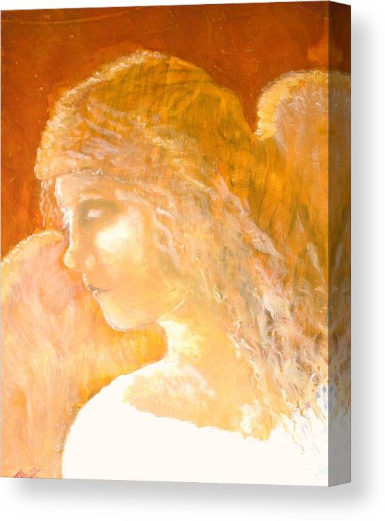Angel Canvas Print featuring the painting Tender Mercy by J Bauer