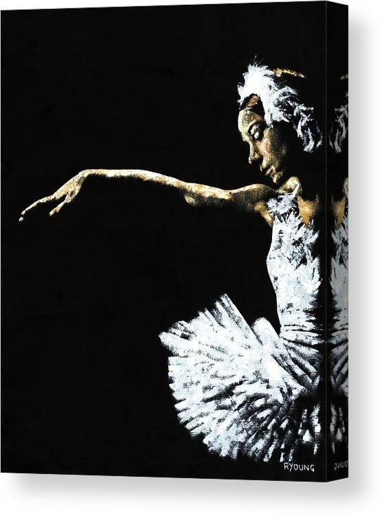 Ballet Canvas Print featuring the painting The Art of Grace by Richard Young