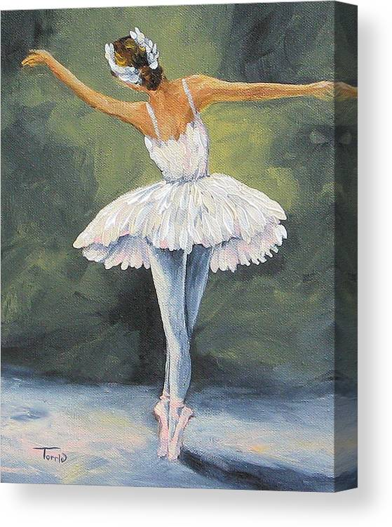 Ballerina Canvas Print featuring the painting The Ballerina II  by Torrie Smiley