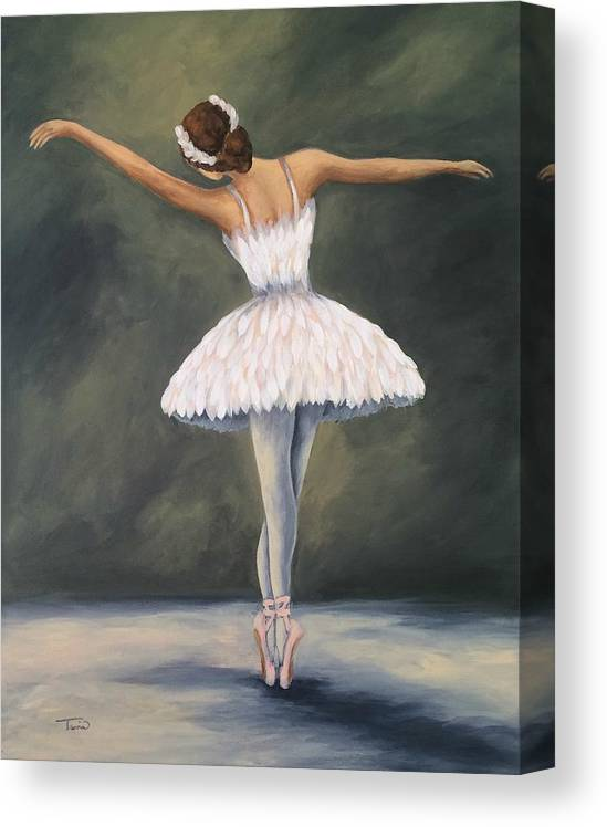 Ballet Canvas Print featuring the painting The Ballerina V by Torrie Smiley