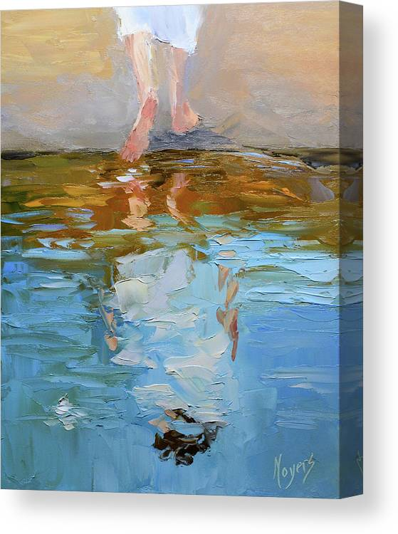 Baptism Canvas Print featuring the painting The Baptism of Jesus by Mike Moyers