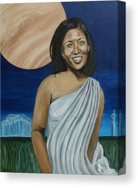 African-american Canvas Print featuring the painting The Beauty of Venus by Angelo Thomas