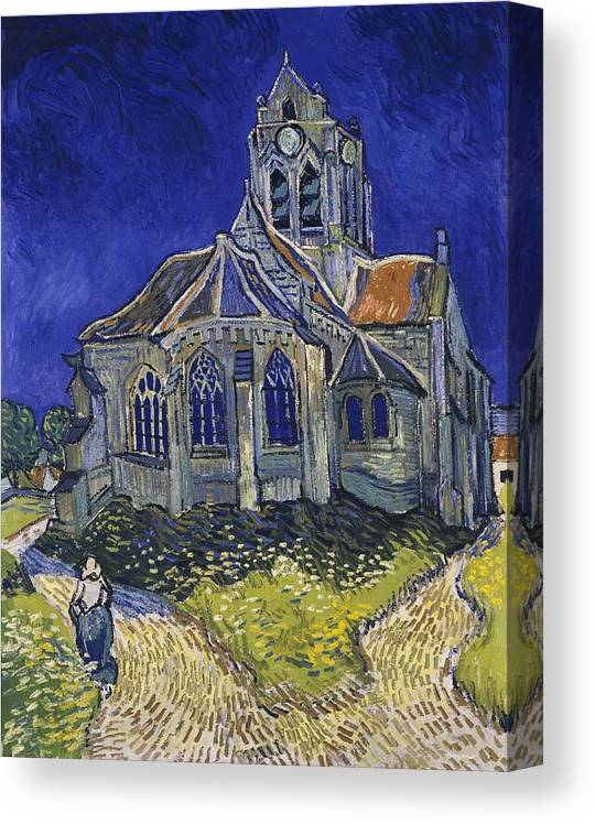 Vincent Van Gogh Canvas Print featuring the painting The Church At Auvers by Van Gogh