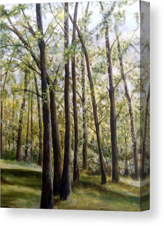 Landscape Canvas Print featuring the painting Trees by Lorna Skeie
