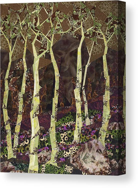Tree Canvas Print featuring the tapestry - textile Wearing the Scars by Linda Beach