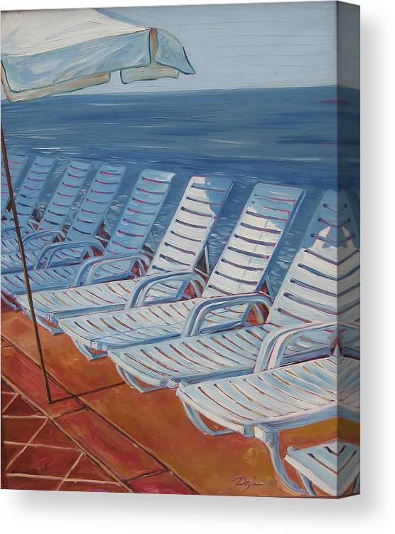 Ocean Canvas Print featuring the painting Wednesday Afternoon by Karen Doyle