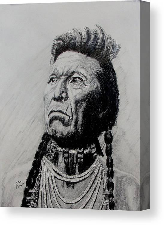 Indian Canvas Print featuring the drawing Whirlwind by Stan Hamilton