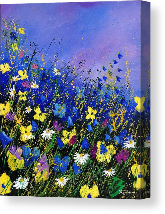 Flowers Canvas Print featuring the painting Wild flowers 560908 by Pol Ledent