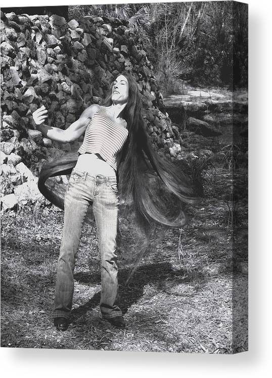Hair Canvas Print featuring the photograph Wild Hair by Debbie May