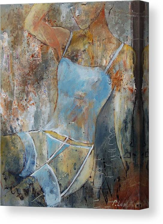 Nude Canvas Print featuring the painting Young Girl 451108 by Pol Ledent