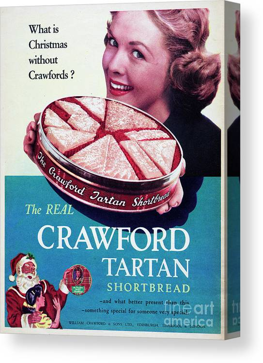 Shortbread Canvas Print featuring the photograph Crawford Tartan Shortbread by Picture Post