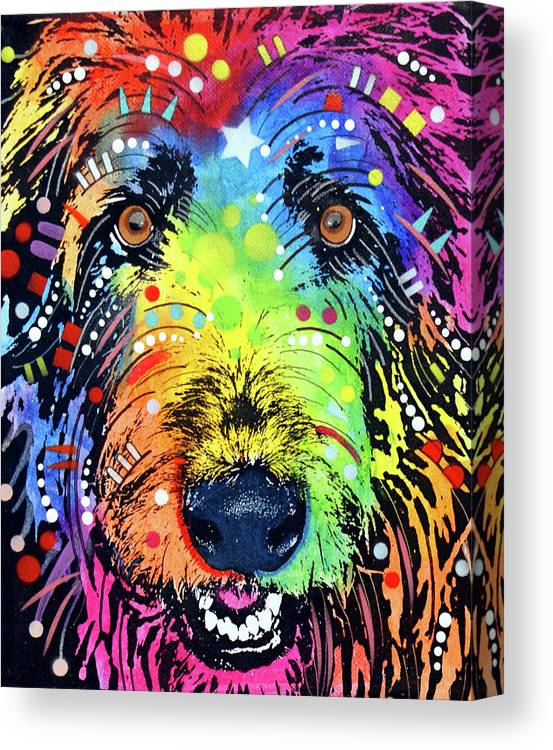Irish Wolfhound Canvas Print featuring the mixed media Irish Wolfhound by Dean Russo