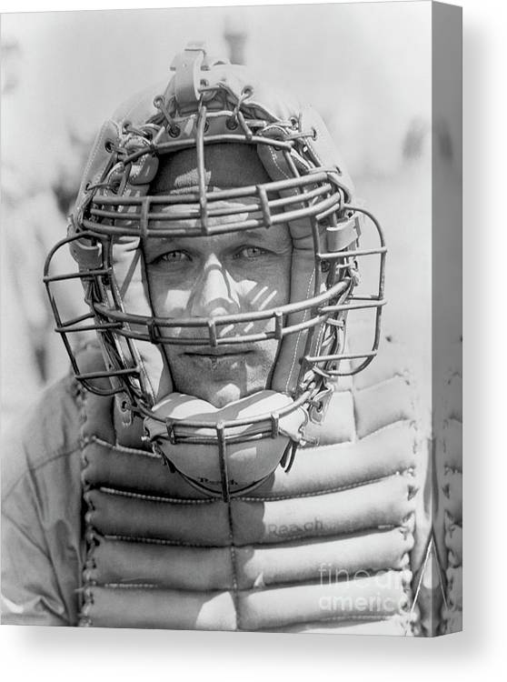 Baseball Catcher Canvas Print featuring the photograph National Baseball Hall Of Fame Library by National Baseball Hall Of Fame Library