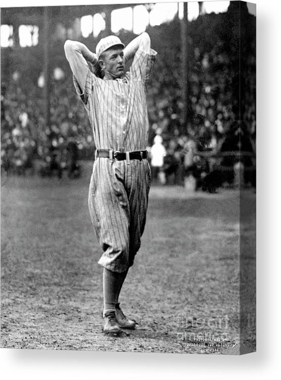 Baseball Pitcher Canvas Print featuring the photograph National Baseball Hall Of Fame Library by National Baseball Hall Of Fame Library