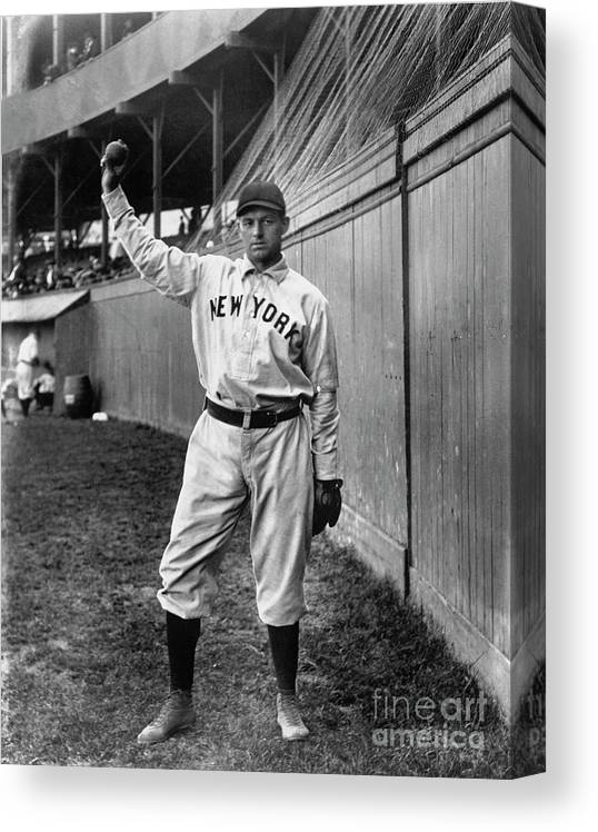Sports Ball Canvas Print featuring the photograph National Baseball Hall Of Fame Library by National Baseball Hall Of Fame Library