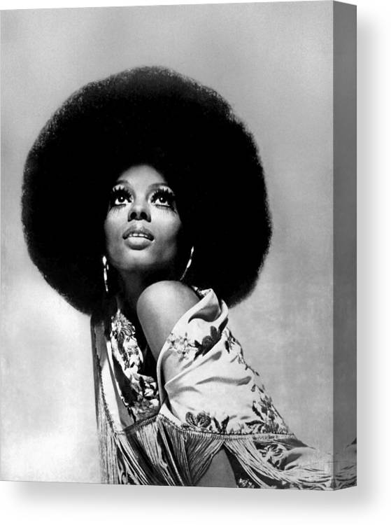 Diana Ross Canvas Print featuring the photograph Diana Ross Portrait Session by Harry Langdon