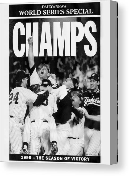 Celebration Canvas Print featuring the photograph Daily News Front Page by New York Daily News Archive