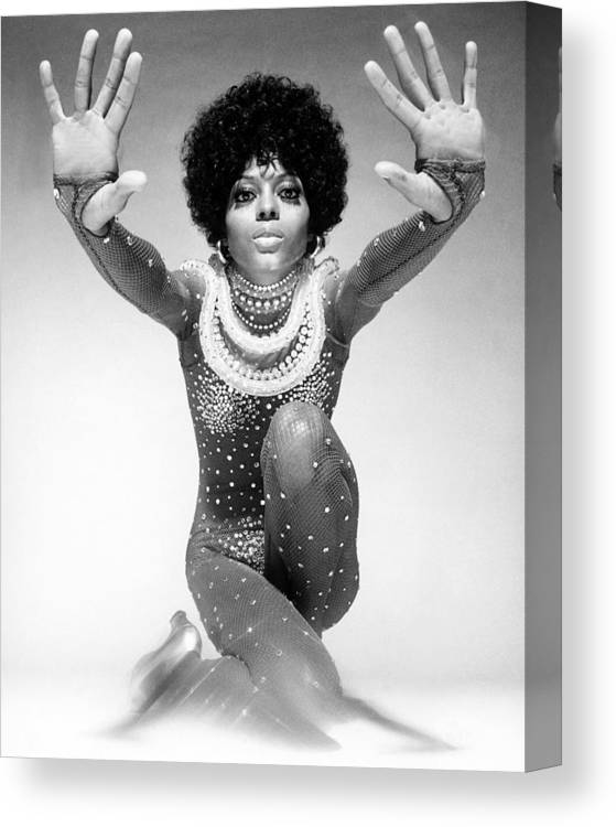 Event Canvas Print featuring the photograph Diana Ross Portrait Session by Harry Langdon