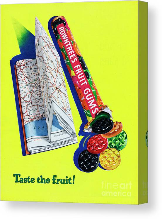 1950-1959 Canvas Print featuring the photograph Rowntrees Fruit Gums by Picture Post