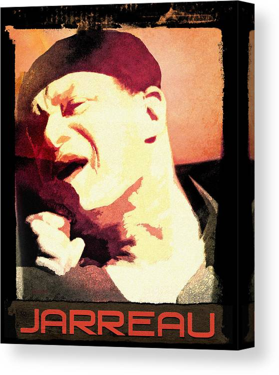 Canvas Print featuring the digital art Al Jarreau by Regina Wyatt