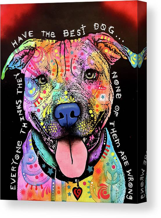 Best Dog Canvas Print featuring the mixed media Best Dog by Dean Russo