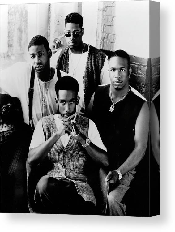 Expertise Canvas Print featuring the photograph Boyz II Men by Afro Newspaper/gado
