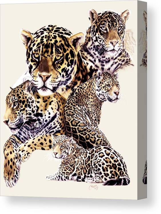 Jaguar Canvas Print featuring the drawing Burn by Barbara Keith