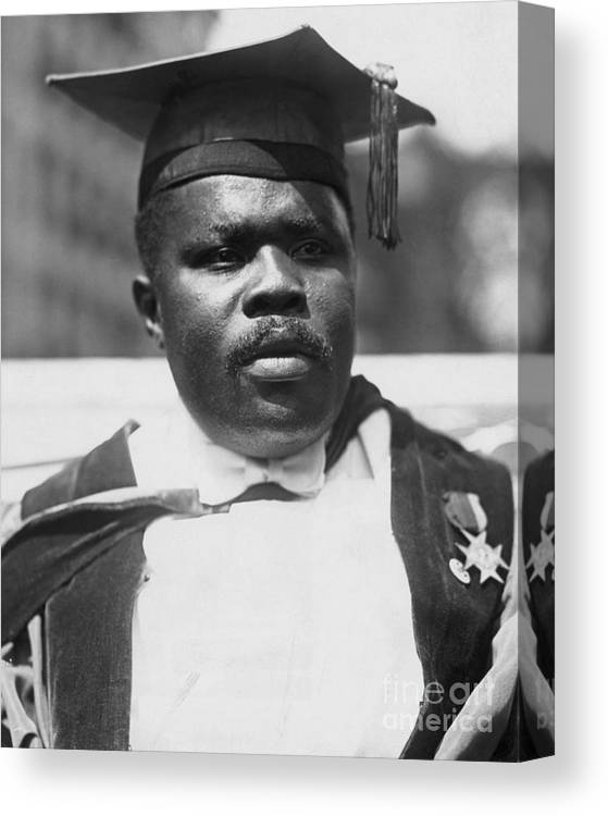 People Canvas Print featuring the photograph Civil Rights Activist Marcus Garvey by Bettmann