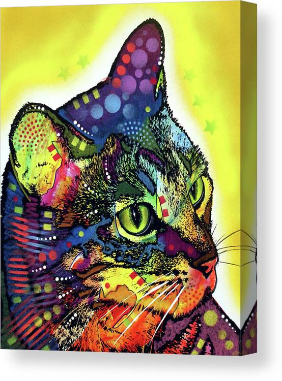Confident Cat Canvas Print featuring the mixed media Confident Cat by Dean Russo