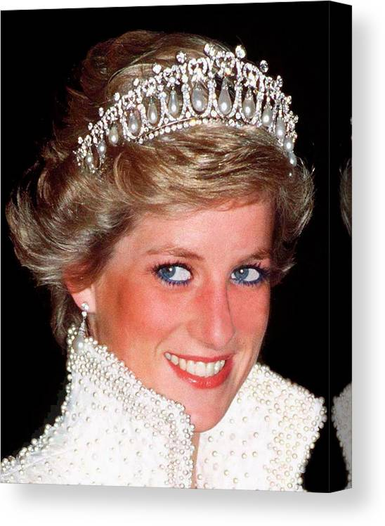 Princess Diana Canvas Print featuring the photograph Diana Lovers Knot Tiara by Tim Graham