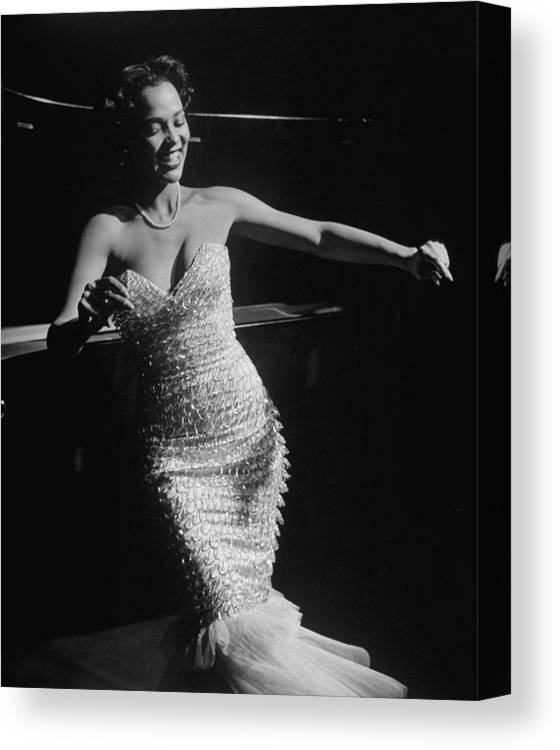 Dorothy Dandridge Canvas Print featuring the photograph Dorothy Dandridge by Ed Clark
