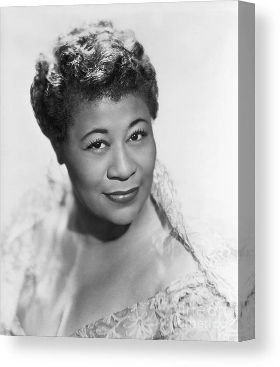 People Canvas Print featuring the photograph Ella Fitzgerald by Bettmann