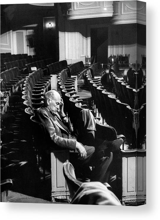 Timeincown Canvas Print featuring the photograph George Abbott by Peter Stackpole