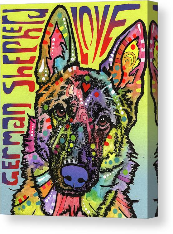 Love Canvas Print featuring the photograph German Shepherd Luv by Dean Russo