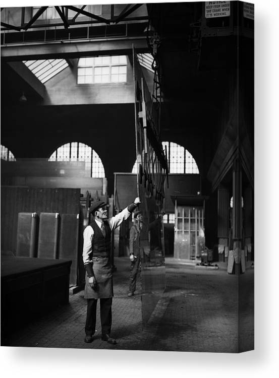 East Canvas Print featuring the photograph Glass Factory by Fox Photos