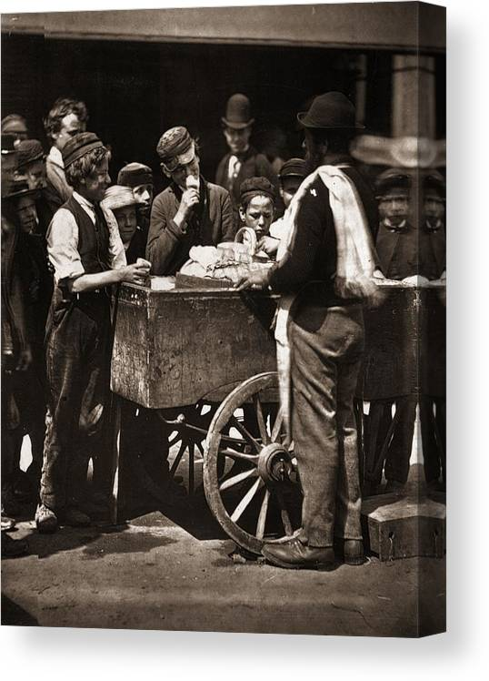 Child Canvas Print featuring the photograph Halfpenny Ices by John Thomson