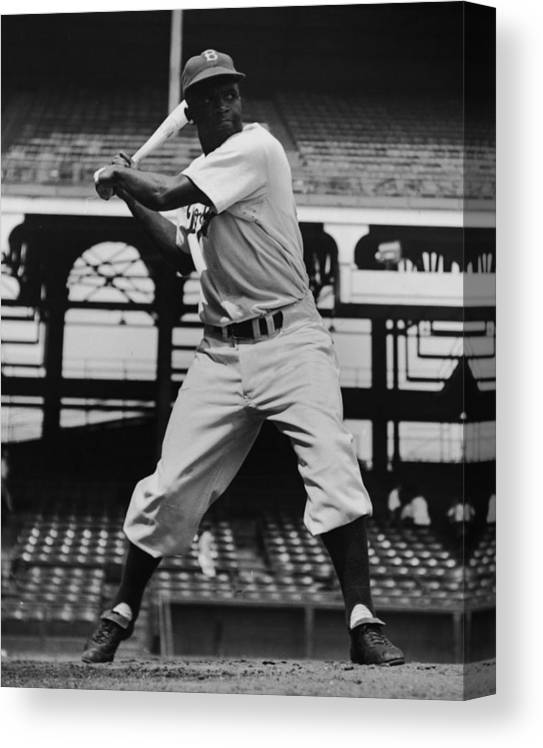 People Canvas Print featuring the photograph Jackie Robinson by Archive Photos