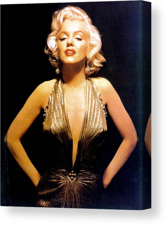 Marilyn Monroe Canvas Print featuring the photograph Marilyn Monroe Portrait by Michael Ochs Archives