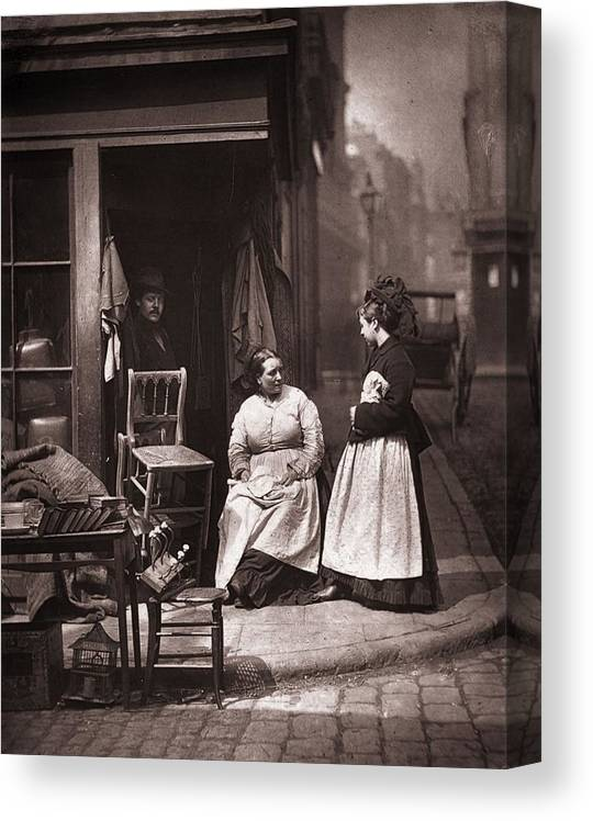 England Canvas Print featuring the photograph Old Furniture by John Thomson