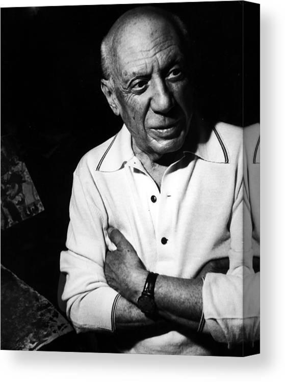 Artist Canvas Print featuring the photograph Pablo Picassopablo Picasso Misc by Gjon Mili