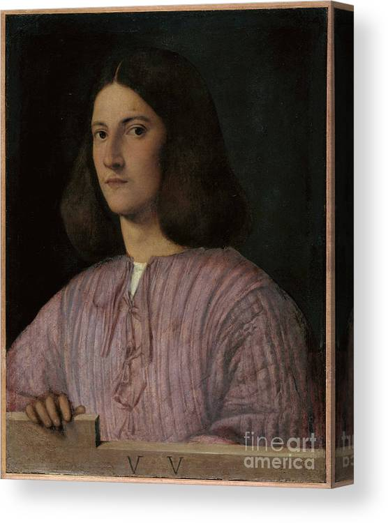 Oil Painting Canvas Print featuring the drawing Portrait Of A Young Man Giustiniani by Heritage Images