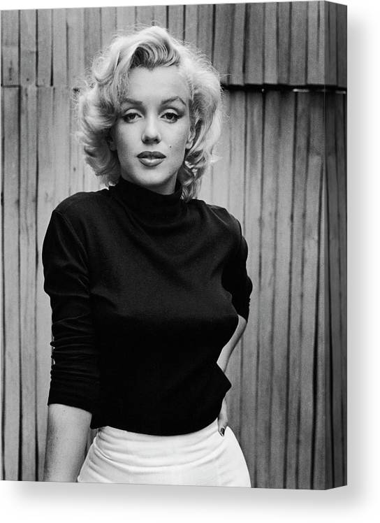 Timeincown Canvas Print featuring the photograph Portrait Of Marilyn Monroe by Alfred Eisenstaedt