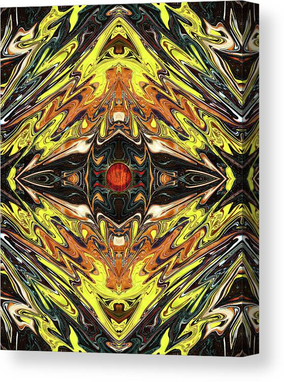 Abstract Canvas Print featuring the digital art Psych Rock by Jack Entropy
